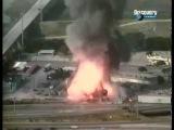 Взрыв баллонов с ацетиленом на заводе.