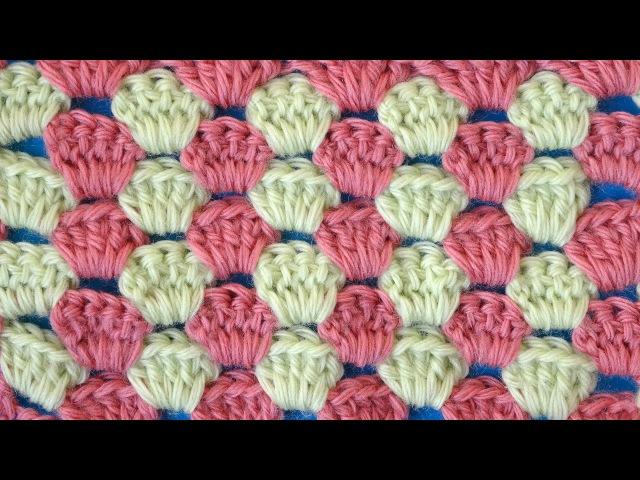 Двухцветный узор 47 Вязание крючком Crochet pattern
