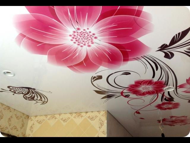 💗 Натяжной потолок в кухне
