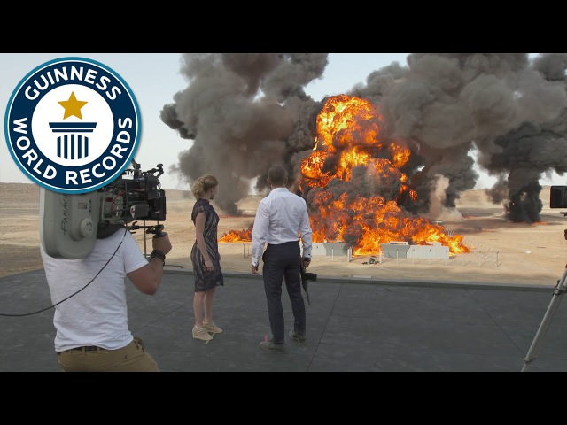 Largest film stunt explosion ever - James Bond movie Spectre