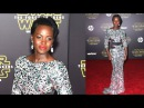 Lupita Nyong'o DAZZLES In Shimmery Gown At Star Wars: The Force Awken Red Carpet