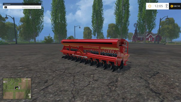 Farming Simulator 2015 мод сеялка Case 3PT Seed Drill