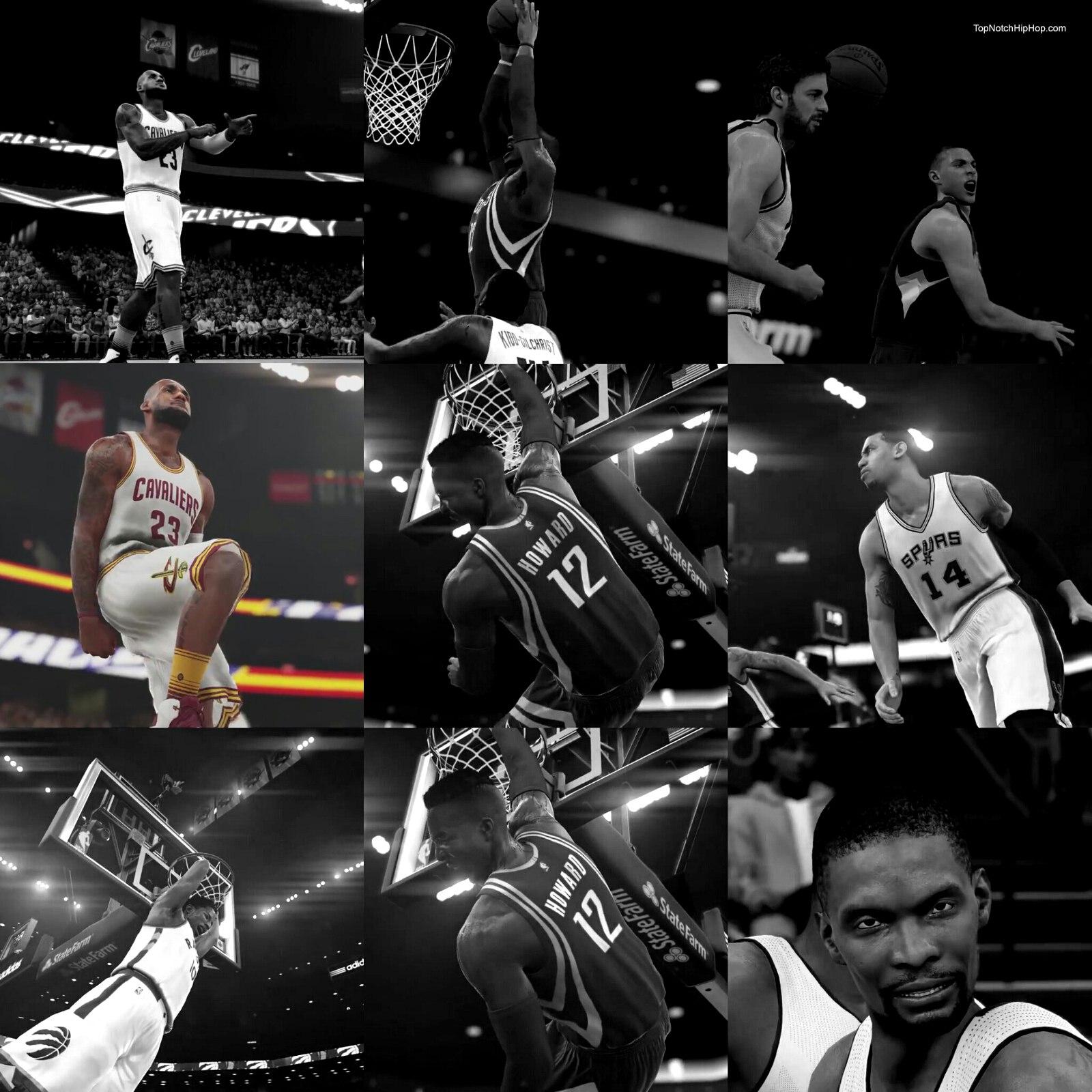 Леброн в игре НБА2К16 2015 года