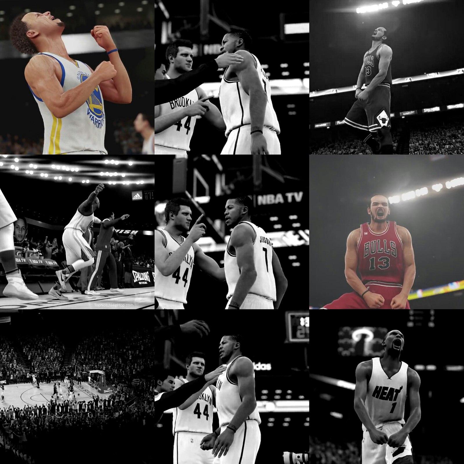 Лучшие кадры с игра НБА2К16  2015 года
