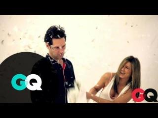За кадром фотосессии Пола и Дженифер Энистон для GQ
