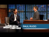 Paul Rudd and Jon Hamm Used to Compete for the Same Girl - Late Night with Seth Meyers