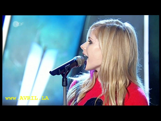 Avril Lavigne When You're Gone live bei Wetten dass aus Basel 06.10.2007
