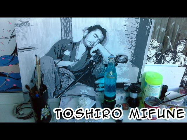 [Sanjuro] Toshiro Mifune SPEED PAINTING – Sleeping Samurai