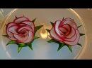 Цветы из редиса Украшения из овощей Flowers radish Decoration of Vegetables