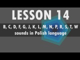 Lesson 14 Polish alphabet B, C, D, F, G, J, K, L, M, N, P, R, S, T, W sounds in Polish language