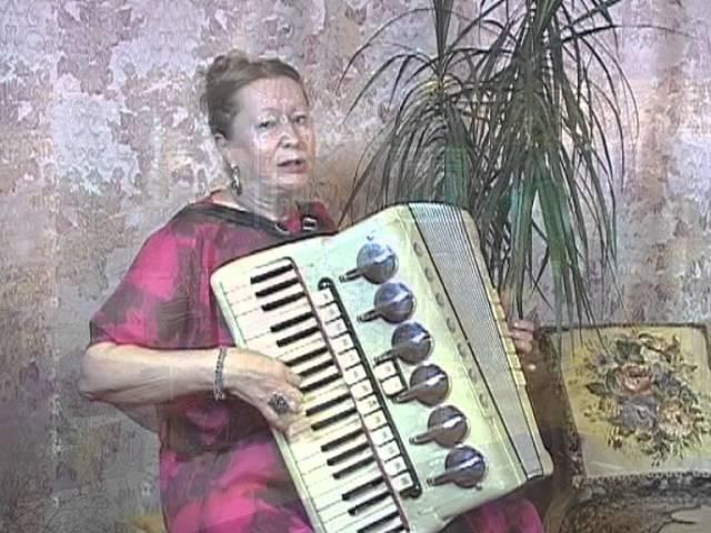 Огней так много золотых A Love Song Аккордеон accordion