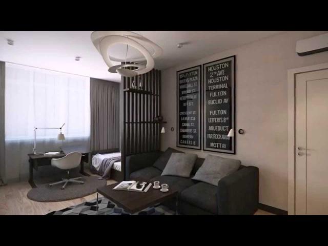Дизайн однокомнатной квартиры ЖК Park Stone SKRIN студия