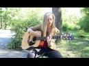 Красивый голос и хорошая песня под гитару