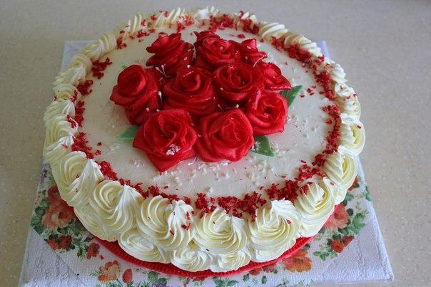 Бисквитный торт на др фото