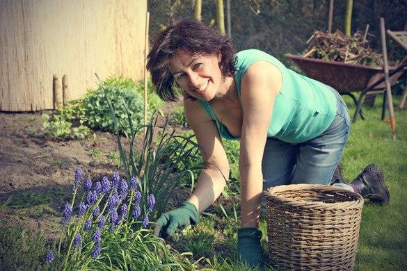 мама на огороде стоит раком видео