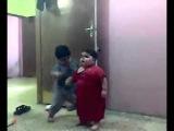 Fat arab kids fighting
