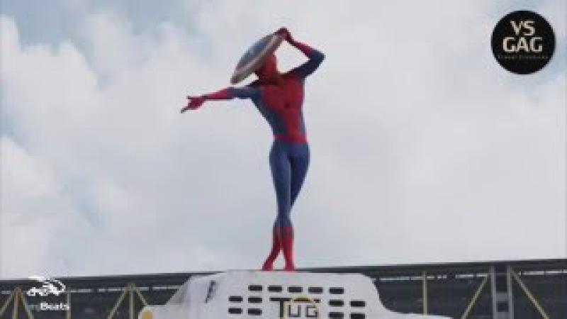 Spider-Man dance Michael Jackson (Civil War Trailer)   Человек-Паук танцует под Макйла Джексона