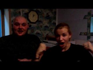 Барабанная дробь - Настя и Пух - игра на лысине