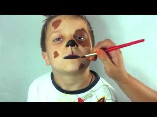 Собака аквагрим. Как нарисовать собачку. Dog Face Painting. Праздник ТВ