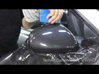 КАК обклеить зеркало с VVIVID TechArt Carbon Gloss винил