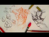 How to Draw Complex Forms Part 3 Outline and sculpt forms like Michelangelo