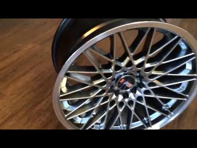 F1R Wheels, Model F23 Black Chrome, Spec 18x9,5 et35
