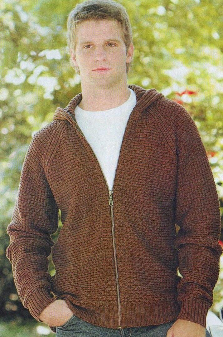 Вязанная спортивная куртка