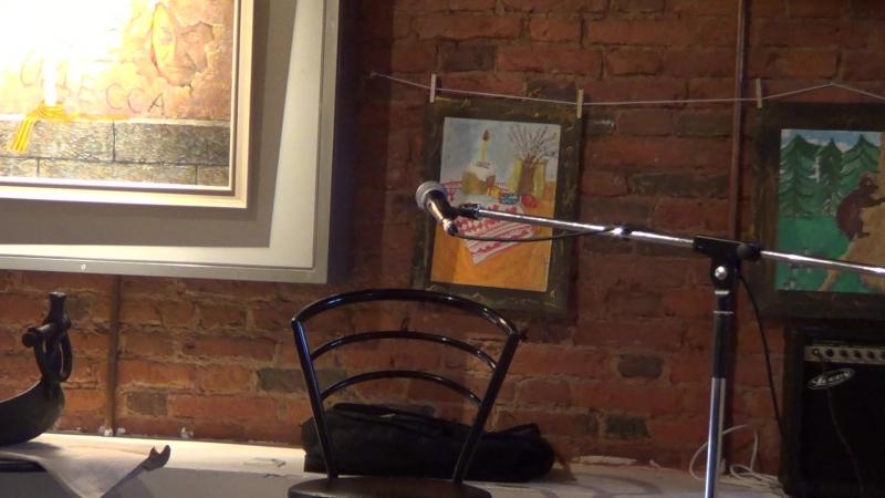 Михаил Колоземцев на выставке Нет войне ! в арт-галарее Ветер странствий