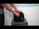 MICHAEL KORS GREENWICH MD BUCKET BAG BLACK/RASP