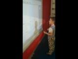 Звуко- буквенный анализ на интерактивной доске в программе Енотики школа