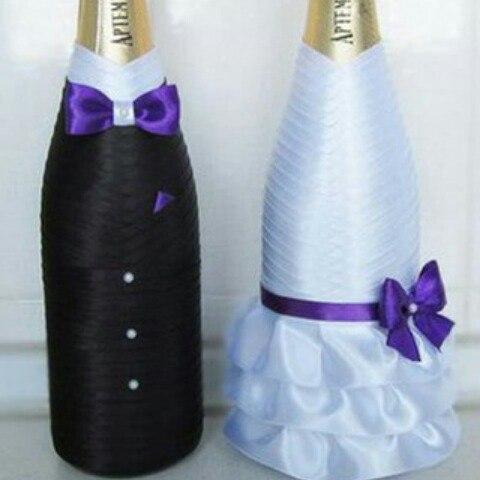 Свадебное шампанское жених и невеста своими руками мастер класс фото