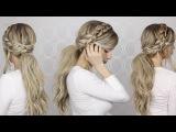 HOW TO: Voluminous Messy Ponytail & Braid Detailing | Long medium hair