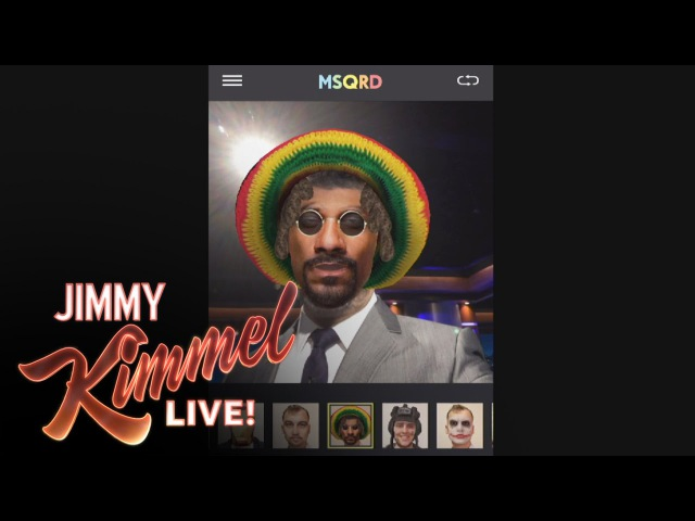 Jimmy Kimmel Guillermo Use a 3D Mask App