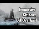 """Скайрим. Обзор мода """"Улучшенный интеллект жителей Скайрима (НПС)   Immersive Citizens - AI Overhaul"""""""