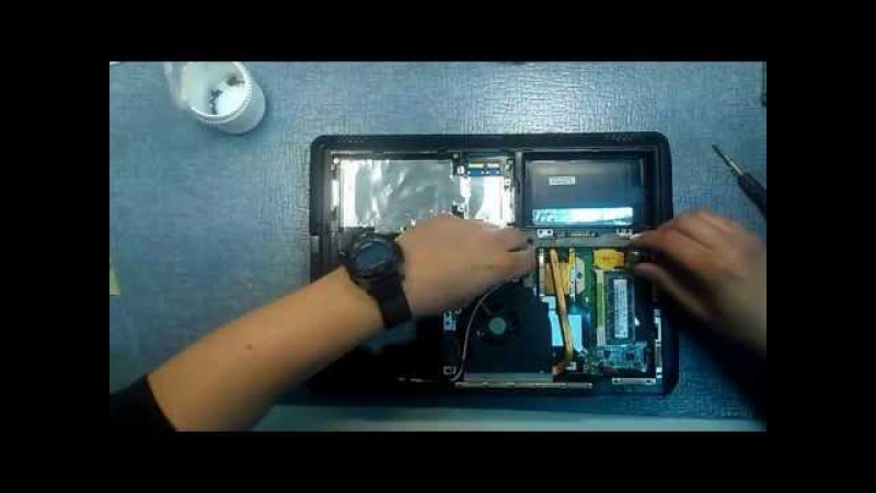 Как разобрать ноутбук ASUS K40 K50 K70 ASUS K40 K50 K70 disassembly