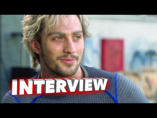 Marvels Avengers Age of Ultron Aaron Taylor-Johnson Pietro Maximoff Quicksilver Interview