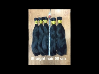 Viet nam straight double virgin and remy 100% natural human hair