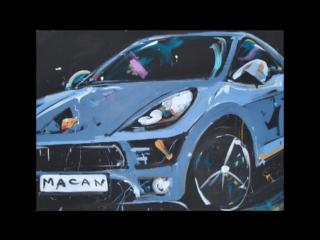 Marta Tish. Dancing Painter Show. New Porsche Macan. April 2014-SD