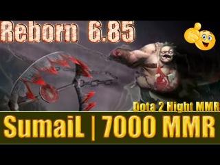 Dota 2 reborn 6 85 SumaiL 7000 MMR Pudge Ranked Match Gameplay!