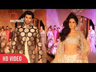 Katrina Kaif & Aditya Roy Kapur Walking The Ramp BARE FEET | Fashion Show of regal Threads
