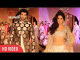 Katrina Kaif & Aditya Roy Kapur Walking The Ramp BARE FEET | Fashion Show of regal Threads