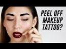 Peel Off Lip Eyebrow Tattoo Review TINA TRIES IT