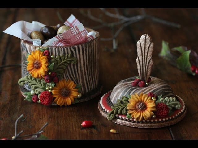 How to Make 3-D Woodland Cookie Boxes - A Dessert Network Collaboration Using Wilton Molds