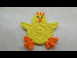 CROCHET How to #Crochet Cute and Easy Easter Chick Applique  #TUTORIAL #212 LEARN CROCHET