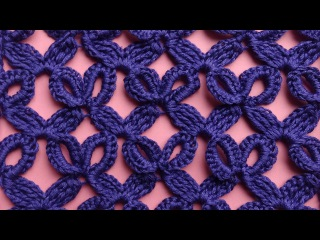 Ажурный узор крючком вязание крючком How to crochet openwork mesh 76