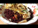 Салат из черного риса с рыбой и помидорами в масле // Завтрак с Юлией Высоцкой