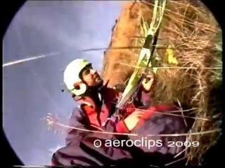 Retro Paragliding Crashes - Hard landing and Take-offs