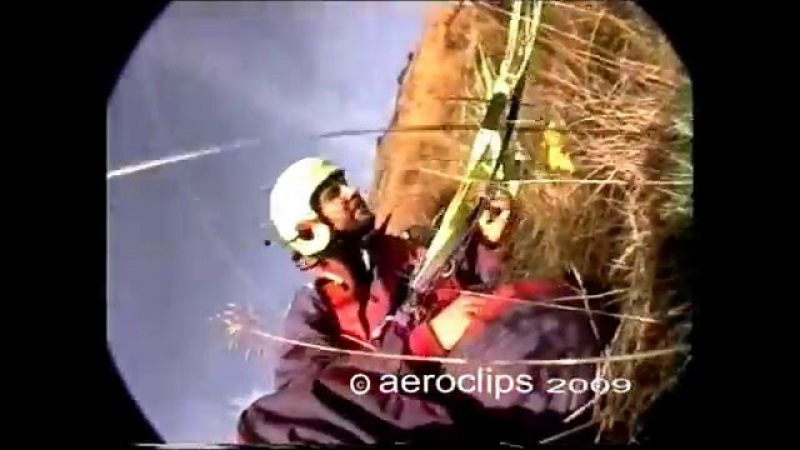 Retro Paragliding Crashes - Hard landing and Take-offs