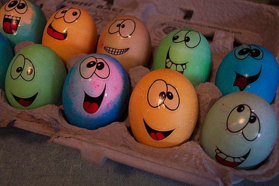Яйця смайлики