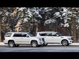 Тест-драйв внедорожников Cadillac Escalade и Infiniti QX80